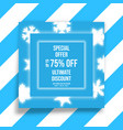 winter shopping sale flyer template with vector image