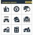 Icons set premium quality of automotive services vector image