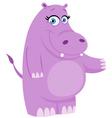 hippo presenting vector image