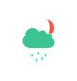 Night rain Icon vector image