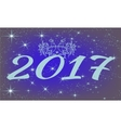 2017 andHappy new year with rooster and stars vector image