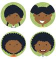 African american school girls avatar vector image vector image