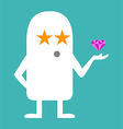 Animated personality STAR vector image vector image