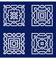 Background with pattern in islamic style vector image vector image