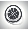 Basketball sign sticker curved vector image vector image