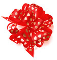 big bow made of ribbon with small hearts vector image vector image