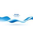 blue fluid motion flowing wave background design vector image