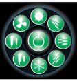 button green vector image vector image