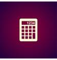Calculator icon Flat design style vector image vector image