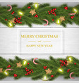 christmas on white wooden background with vector image