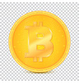 coin of virtual currency bitcoin icon golden vector image vector image