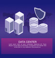 data center poster with informaton vector image