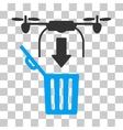 Drone Drop Trash Icon vector image