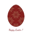 Easter egg decorated floral seamless ornament vector image vector image