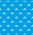 fence brick pattern seamless blue vector image vector image