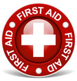 first aid red vector image