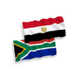 flags egypt and republic south africa on a vector image
