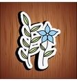 floral decoration design vector image vector image
