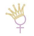 gender female symbol with crown vector image