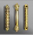 gold door handles in baroque style classic knobs vector image vector image