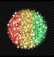 guinea flag sparkling badge vector image vector image