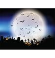 halloween moon landscape vector image vector image