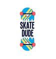 hand drawing skateboard vector image