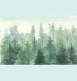 hand drawn painting winter forest landscape vector image