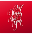 Happy New Year 2017 Christmas Card Text on Red vector image vector image
