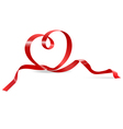 heart red ribbon vector image vector image