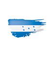 Honduras flag on a white