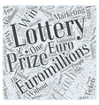 How to win Euro Millions lottery prizes every week vector image