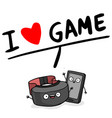 i love game realistic virtual reality glasses hear vector image