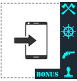incoming calls icon flat vector image vector image
