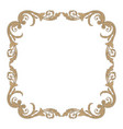 isolated ornament in baroque style vector image vector image