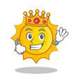 king cute sun character cartoon vector image