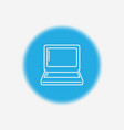 laptop icon sign symbol vector image vector image