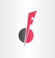 letter f icon design element vector image vector image