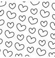 line nice heart love symbol background vector image vector image