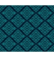 Luxury Damask seamless pattern Blue color vector image