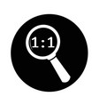 magnifying glass icon design vector image