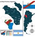 map of la rioja province argentina vector image vector image