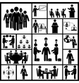 Meeting Icons Set Black vector image
