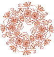 Mehendi ornament vector image