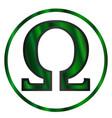 omega greek letter vector image vector image