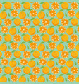 orange pattern background vector image vector image
