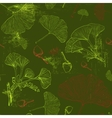 Pattern with green Ginkgo leaves vector image vector image