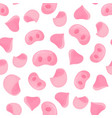 pig snouts and ears seamless pattern for wrapping vector image vector image