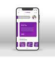 purple my design ui ux gui screen for mobile apps vector image vector image