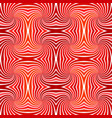 red abstract hypnotic seamless striped spiral vector image vector image
